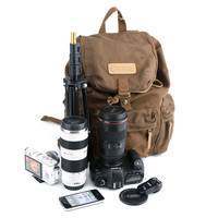 School Bag Canvas DSLR Camera Backpack