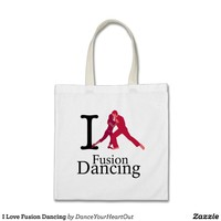I Love Fusion Dancing Tote Bag from Zazzle.com