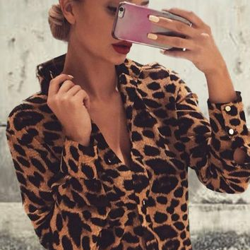 Untamed Leopard Blouse