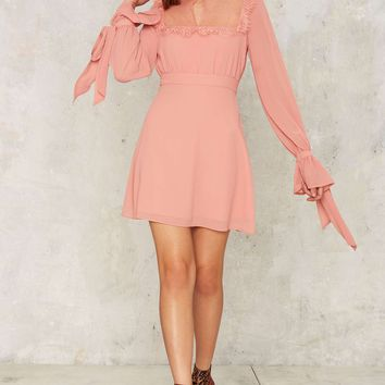 Nasty Gal Collection Kiss and Not Tell Mini Dress