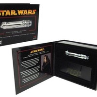 Star Wars Master Replicas Darth Sidious European Excluisve Chrome 0.45 Scaled Lightsaber