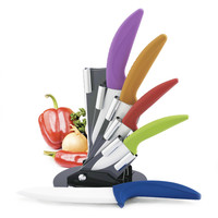 Modern Block Color Ceramic Cutlery Set with Grip Handles  | Overstock.com