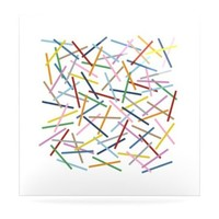 Kess InHouse Project M Sprinkles Aluminum Floating Art Panel, 8 by 8-Inch