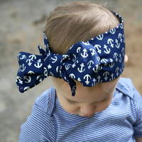 Navy Head Wrap