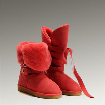 UGG Roxy Tall 5818 Boots Red Enthusiasm