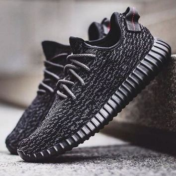 """""""Adidas"""" Yeezy Boost Women Men Casual Running Sports Shoes Sneakers Black I"""