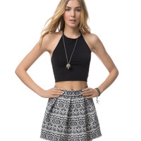 Aeropostale Womens Wild Pleated Skirt - Black,