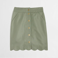 Factory button-front scallop skirt