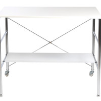 Ida Desk White Lacquer/Chrome