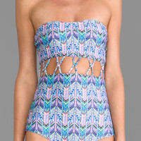 Stone Fox Swim Zephyr One-Piece in Blue