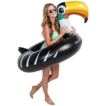 Giant 4 Foot Inflatable Black Toucan Pool Ring