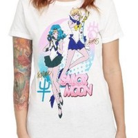 Sailor Moon Uranus And Neptune Girls T-Shirt Size : Small