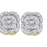 Diamond Fashion Earrings in 10k Gold 0.08 ctw