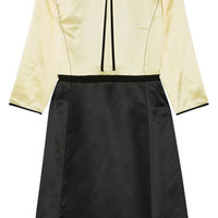 Marc Jacobs - Two-tone silk-satin dress