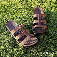 brown jaya jandals® - pali hawaii Jesus sandals