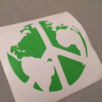 World Peace Decal | Peace Sticker | Hippie | Peace