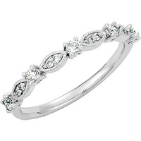 14kt White 1/5 CTW Diamond Ring