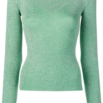 Sparkle Mint Green V-Neck Top by Missoni