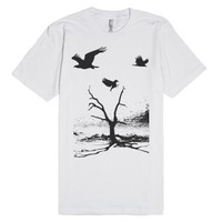 Dead Tree-Unisex White T-Shirt
