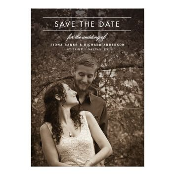 Classic Type Wedding Photo Save the Date 5x7 Paper Invitation Card