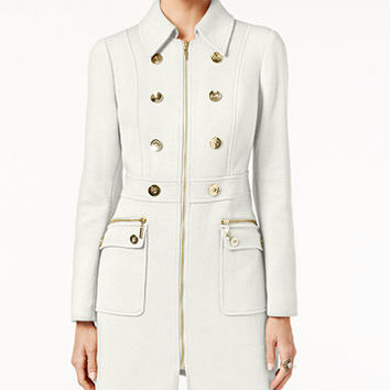 INC International Concepts Double-Breasted Stretch Peacoat, Only at Macy's | macys.com