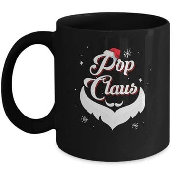 DCKIJ3 Santa Beard Matching Christmas Pajamas Pop Claus Mug