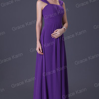 Blue/Purple Prom Gown Sexy Formal Lady Party Evening Cocktail Chiffon Long Dress