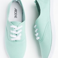 Mint laced sneakers