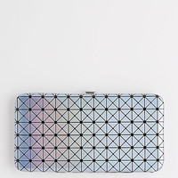 Silver Iridescent Geo Hinged Wallet