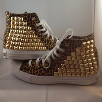 Studded Leopard Converse
