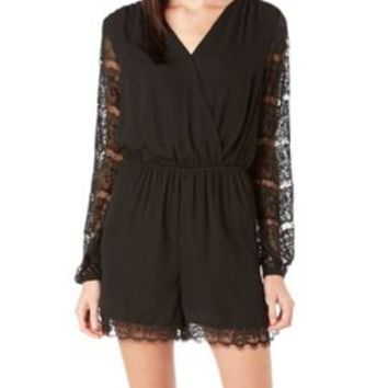 LOVE, FIRE Juniors Lace Long Sleeves Romper | Bealls Florida