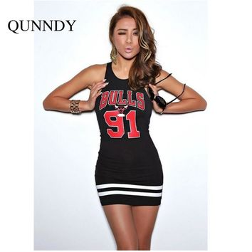 Sexy off shoulder bulls lakers dress women cheerleader costume vestio mujer bodycon mini party dresses plus size