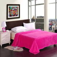 Warm Red rose fleece blankets adult winter thick warm big blanket super soft carpet on the bed throw