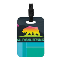"Fimbis ""California"" Multicolor Teal Decorative Luggage Tag"