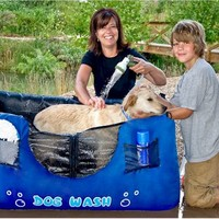 Portable Inflatable Dog Wash - PetGadgets.com