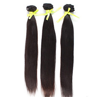 "Top quality10""-24"" brazilian hair weave straight remy hair weft 100% human hair extension Virgin hair natural black DHL shipping"
