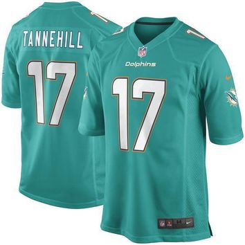 Men's Miami Dolphins Ryan Tannehill Nike Aqua Team Color Limited Jersey