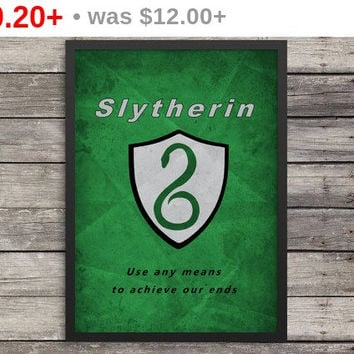Slytherin Poster | Minimalist Poster | Harry Potter Poster |  Kids room decor | Harry Potter art