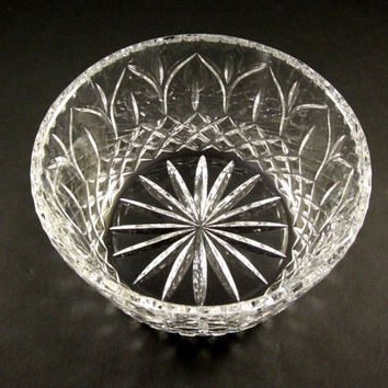Cut Glass Bowl // Fine European Crystal // from UBlinkItsGone
