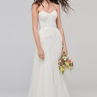 Willowby Lupine Strapless Chantilly Lace & Net Gown (In Selected Stores Only) | Nordstrom