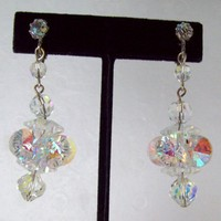 Vintage Swarovski Crystal Drop Earrings