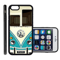 RCGrafix Brand Vw Minibus Teal Apple Iphone 6 Plus Protective Cell Phone Case Cover - Fits Apple Iphone 6 Plus