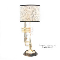 Trumpet Lamp & Sheet Music Lamp Shade