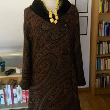 ETRO MILANO Wool Coat Brocade Paisley  Runway  ON SALE!