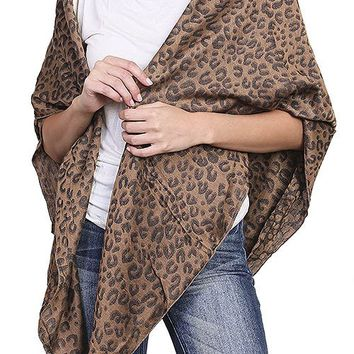 CHEETAH PRINT THIN BLANKET SCARF