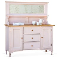 Sweet Pea Kitchen Cabinet, Pink/Natural, Cabinets & Hutches