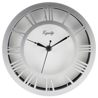 Equity by La Crosse Analog 8 in. Round Nickel Wall Clock-20862 - The Home Depot