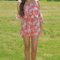 All Tied Up Floral Romper