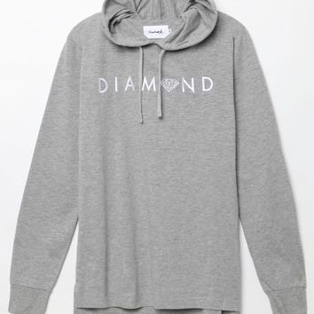 Diamond Supply Co - Garnet Slub Long Sleeve T-Shirt - Mens Tee