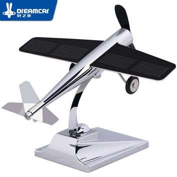DREAMCAR High Technology Aircraft Model Ornaments Propeller Rotating Solar Power 0.4W For Car Interior Decoration Accessories